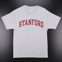 Vintage CHAMPION Standford Grey College Short Sleeve T-Shirt Mens M