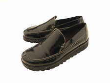 Donald J Pliner Womens Black Slip-On Patent Leather Loafers Size 7.5*