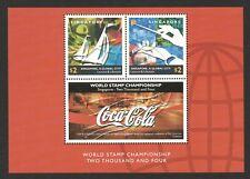 SINGAPORE 2002 GLOBAL CITY (LEISURE & LIFESTYLE) COCA-COLA LABEL SOUVENIR SHEET
