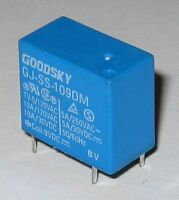 Goodsky 9V Coil 10 Amp Relay Rated at 120 VAC - Compact / Light 9 V Relay