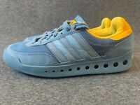 Adidas women's men's shoes size 7 grey yellow flats boots sneaker trainers EU 40