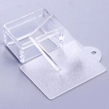 Clear Nail Art Stampers Rectangle Plastic Silicone Jelly Head Stamping Scrapers