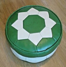 More details for old vintage mid century geometric h c hanley footstool pouffe