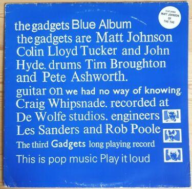 The Gadgets The Blue Album Vinyl LP Repress Plastic Head Records PLASLP016 1989