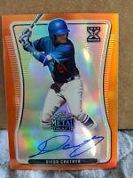 Diego Cartaya 2020 Leaf Metal Draft Auto Orange RC 4/7 Dodgers 🔥
