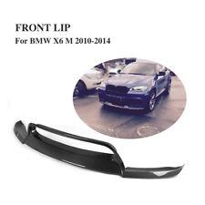 Carbon Fiber Front Bumper Lip Chin Fit for BMW E71 X6M E70 X5M 2010-2014