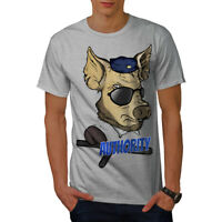 Wellcoda Authority Pig Cool Mens T-shirt, Funny Graphic Design Printed Tee