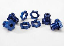 Traxxas TRA5353X Wheel Hubs Splined 17mm Blue-Anodized (4)