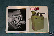 Grob Web THinner Model W-20 Manual