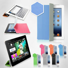 The New iPad Micro-Honeycomb Print Case Smart Cover Color case latest version