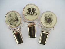Dog Show Ring Number Clip Pin Breed - Dandie Dinmont Terrier