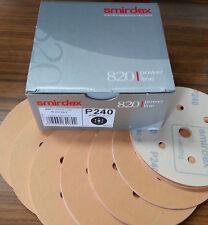 "BOX/100 QUALITY VELCR0 SANDING DISCS 240-GRIT 150MM (6"") 7 HOLE DRY SANDPAPER"