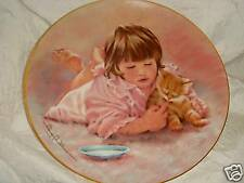 Little Girl w/ Yellow Kitten #'d Hamilton Plate 1985 - Abigail Williams