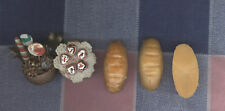 Dollhouse Miniatures 3 Bread Cupcakes Christmas Arrangement
