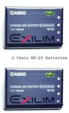 2 Casio Genuine NP-20 NP-20DBA Batteries for EX-Z77 Z60 Z65 Z70 Z75 S770 S880