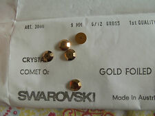 Swarovski Art3000  NOS Vintage comet 0r 9mm sew on Rhinestone Crystal