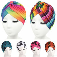 Islamic Hijab Indian Headwrap Muslim Women Printed Chemo Cap Stretch Turban Hat