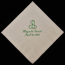 200 personalized monogram beverage napkins wedding napkins baby shower napkins