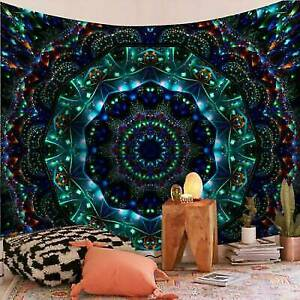 Psychedelic Mandala Tapestry Hippie Party Wall Hanging Throw Tapestry Bedspread