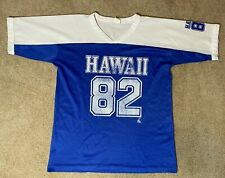 Vintage Poly Tees Hawaii Mesh T-shirt Jersey Hawaii 82 Blue and White