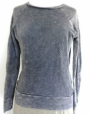 American Age Top Long Sleeve Size XS Distressed Grey Pull Over
