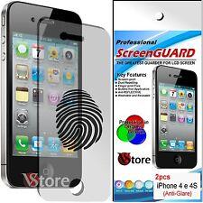 2 Pellicola Opaca Per iPhone 4/4G/4S/G/S Antiriflesso Antimpronta Salva Display