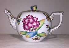 Herend Victoria Museum Teapot 602-0-17 Butterfly Knob