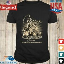 Celine DIon 40th anniversary 1981-2021 thank you for the memories T-shirt
