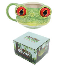 Boxed 3d Tree Frog Novelty Ceramic Jungle Themed Mug - Ideal for Present