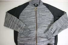 Crooks And Castles Jacket Full Zip Sweater Grey Size Small