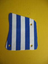 kleines Segel Blau/weiß für Piratenschiff Boot 6273 6278 6292 Cloth Sail KO