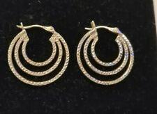 TGGC sterling silver triple hoop earrings