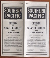 1915 Southern Pacific Railroad Timetable - Oregon & Southern Route, Nice Graphic