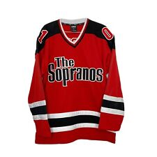 The Sopranos Official Hbo Hockey Jersey Shirt Size Medium Mens Vintage Y2K Red
