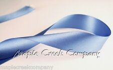 """3yd of Smoke Blue 1/4"""" Double Face Satin Ribbon 1/4"""" x 3 yards neatly wound"""