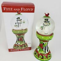 """Fitz and Floyd Frostys Frolic Musical Snowglobe """"We Wish You A Merry Christmas"""""""