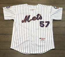 Majestic Mens Size 50 Authentic MLB New York Mets Johan Santana Pinstripe Jersey