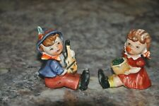 VINTAGE BOY AND GIRL SALT PEPPER SHAKERS CUTE