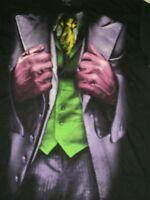 The Dark Knight Rises Batman Joker Suit Black Men's T-shirt Size Small Costume