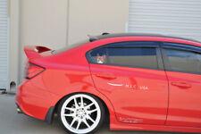 HIC USA 2012 to 2015 Civic 4dr rear roof window visor spoiler Gen 2 (CF Black)