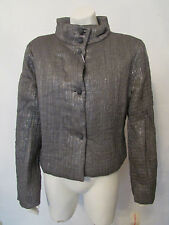 GFF Gianfranco Ferre Studio jacket blazer button down sparkle gray 42 IT 8 US