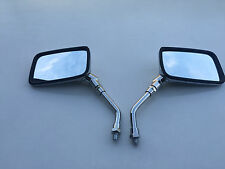 BRAND NEW CHROME E-MARKED RECTANGULAR Mirrors Suzuki RV125 VAN VAN