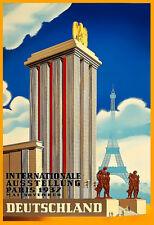 The German Pavilion International Exhibition Paris 1937 Poster Print