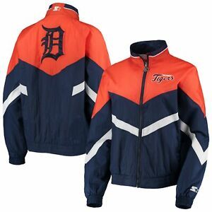 Detroit Tigers Starter Women's Winning Streak Full-Zip Jacket - Navy/Orange