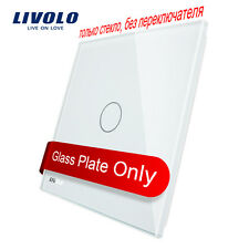 Livolo EU White Pearl Glass Panel  80mm*80mm For 1 Gang Wall Touch Switch