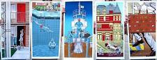 WES ANDERSON TIM DOYLE 5-POSTERS Rushmore/Bottle Rocket/Tenenbaums/Darjeeling