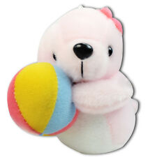 "4"" Pink Baby Girl Seal Playing Ball Plush Toy Stuffed Animal Soft Keychain New"
