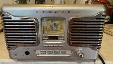 New listing Teac Sl-D80 Silver/Grey Retro Am Fm Stereo Alarm Clock Radio