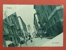 SAVONA Via Verzellino lambretta vespa animata vecchia cartolina *