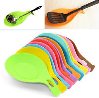 Silicone Spoon Rest Heat Resistant Utensil Spatula Holder Cooking Kitchen Tool